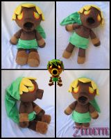 Deku Link Plush Final Version - Majora's Mask by Miss-Zeldette