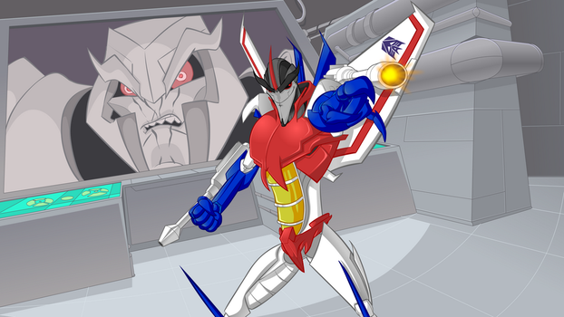 Starscream New Retro City BG by ozthepowerful