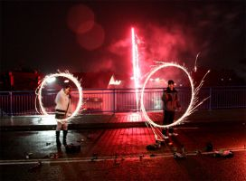 Fun with Sparkler 2 by mceric