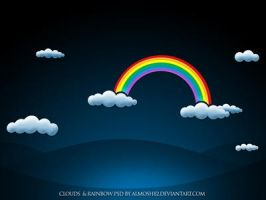 clouds and rainbow psd by almosh82