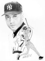 Derek Jeter Illustration by ScottyDal