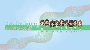 SNSD ITNW CHIBI wallpaper by squeegool
