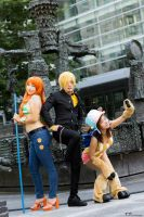 One Piece - Nami, Sanji and Chopper by Kurai-Hisaki