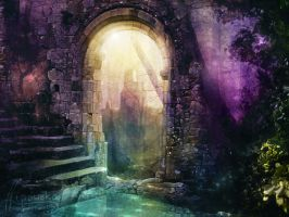 Enchanted ruins by streamline69