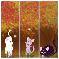 Guardian Cats Bookmarks by Demi-Plum