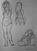Miss Delaney Sketches by outonalark