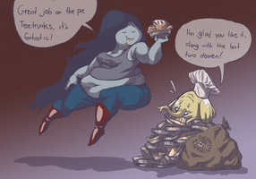 Pie Stuffing Marcy by bloopity