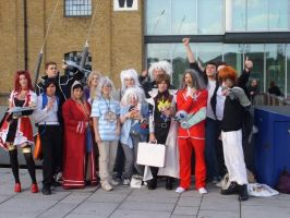 Yugioh Group cosplay by redwolf18blue