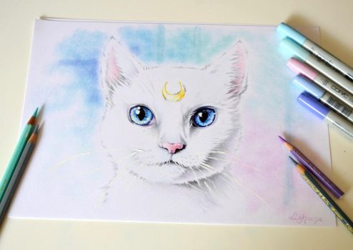 Artemis from Sailor Moon by Lighane