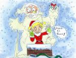 sticky santa by yomerome