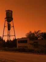 Water Tower by thegreatwolfsage