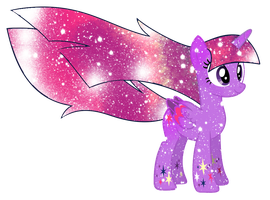 Galaxy Rainbow Power Twilight Sparkle by DigitBrony