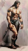 Conan the barbarian study by Jubran