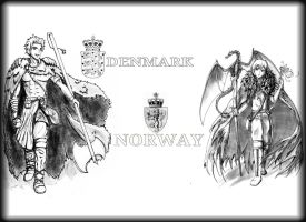 Denmark, Norway: Of Gods and Vikings by DjRoguefire
