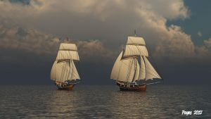 Two Tall Ships by Lance66