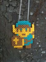 The Legend of Zedla Link 8 bit necklace by TheGeekEmporium