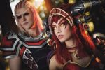 Alexstrasza and Krasus - Red dragons by Narga-Lifestream