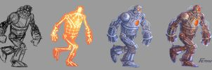 Robot making of by Ferigato
