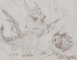 My first ever Spyro The Dragon by YamapiRocks27