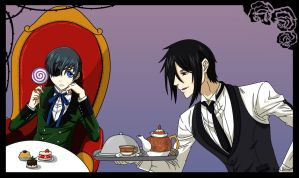 Ciel and Sebastian by angelbelievers