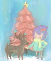 The deer with me. by kuri