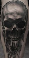 dripping skull by strangeris