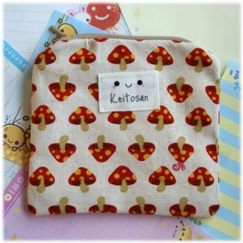 Red Mushroom Pouch by Keito-San