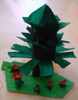 Daughter made a papertree by Znegil