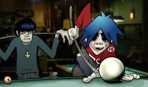 Pool Shark - Gorillaz by Danosuke