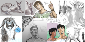 Darke.and.Kitty.Concepts by ZombieGnu