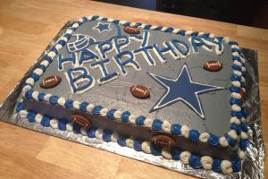 Dallas Cowboys Cake by Crosseyed-Cupcake