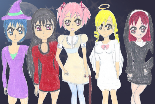 Have a Very Madoka Halloween by fairlyflawed