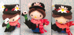 Mary Poppins Hello Kitty Amigurumi Crochet Doll1 by Spudsstitches