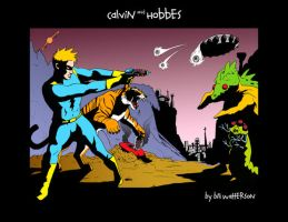 Calvin and Hobbes Tribute by Meemzer