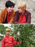 Merlin and Arthur chatting by Ta-moe