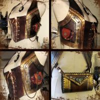 Leather Corset and Harness by StudioGruhnj