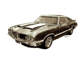 71 olds cutlass 442 by tin23uk