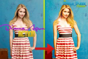 Dianna Agron Action by CheloGleek