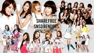 Share Free SNSD Renders by HanaBell1
