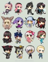 TM Chibi Commissions Set 2 by chuwenjie