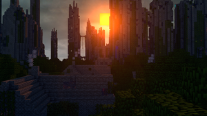 Abondoned City - Dawn by KingFromHatena