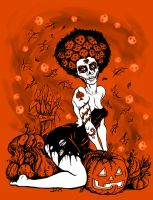Hallow De Muertos Color by rawjawbone