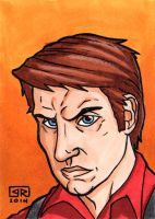 Captain Mal Reynolds Sketch Card by TheRigger