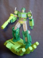 Green Lantern Optimus with solid light constructs by Masamune-Washington