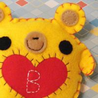 Beatrice the Yellow Bear by hellohappycrafts