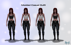 Mass Effect 3 Modded Casual Outfit V2.0 Released by KurauAmami