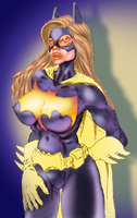 Batgirl: Low-Res Color Test by yomark