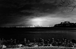 Cleveland from a far BW by FT69