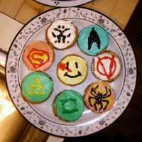 SUPERHERO CUPCAKES by Rose-Bullets