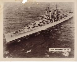 USS Pittsburgh CA-72 by xDewdropx